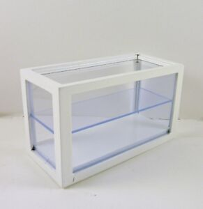 Dollhouse Miniature Small Store Display Counter Case, White, T5677