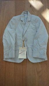 John Lewis Boys Smart Linen Beige Party Wedding Party Jacket Brand New RRP £40