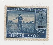 Generalgouvernemet pramienmarke 1 punkt. A 3/4. (107)