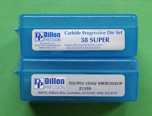 Dillon 9mm/38ACP/Super-(CARBIDE) 3-Die Set-(14399)+650 Conversion Kit-(21109)NEW