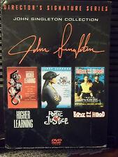 JOHN SINGLETON COLLECTION DIRECTOR'S SIGNATURE SERIES, 3-DISC DVD BOX SET, NEW