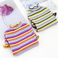 2pcs Dog Striped T Shirt Soft Cotton Warm Puppy Vest Jumper Cute Pet Sweatshirt