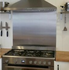 Brushed Stainless Steel Kitchen Cooker SPLASHBACK  - All Sizes