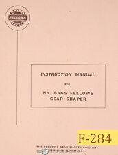 Fellows No. 8AGS, Gear Shaper, Instructions Manual Year (1964)