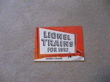 1952 LIONEL TRAINS  ADVANCE CATALOG NEAR MINT