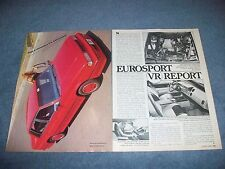 1988 Chevy Celebrity Eurosport VR Vintage New Car Info Article