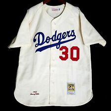 100% Authentic Maury Wills Dodgers Mitchell Ness MLB Jersey Size 48 XL