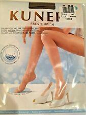 Kunert Fresh Up 10 Toeless Pantyhose Tights Shimmery Acapulco Dark Suntan XL