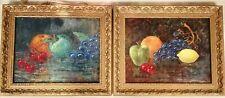Pair Antique paintings M Gunn Thick paint