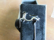 Novelty scooter stick pin Rhodium with black. suitable for tie or lapel.