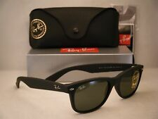 Ray Ban NEW WAYFARER (RB2132-622 55) Black Rubber with Crystal Green Lens
