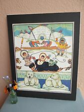 vintage illustration of children and animals from Arctic by Holling  1929