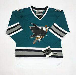Jersey Green San Jose Sharks Reebok official NHL Juniors L / XL