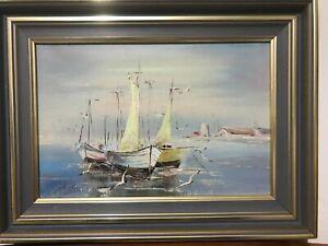 Antique Vintage Original oil  Painting Landscape   framed & signed  40cmx30cm