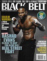 Black Belt Magazine Rashad Evans Shaolin Workout Top 5 Female Fighters Defense