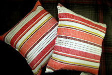 Mainstays Outdoor Patio 16 inch Square Toss Pillow, Set of Two, Multi Stripe, Mu