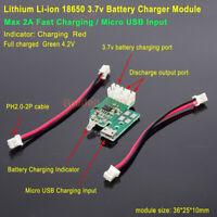 5V 2A Micro USB 3.7V Lithium Li-ion Lipo Battery Charger Module Charging Board