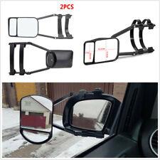 Pair Heavy Adjustable Clip-on Trailer Towing Dual Mirror For Car Caravan Trailer