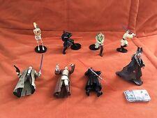 Lot of 8 Star Wars Action Figures 1997-2002 Hasbro Lucas Films + Han Solo Slide