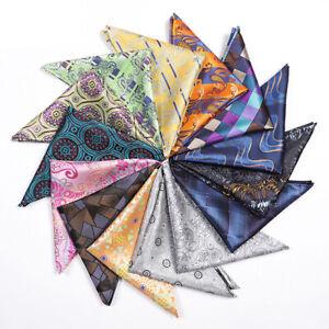 Men's Tuxedo Multi-Color Print Handkerchief Hanky Wedding Party Pocket Square
