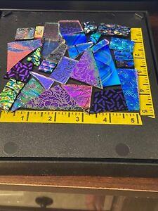 DICHROIC 90 COE FUSIBLE SCRAP GLASS-3 1/2 OZ. Pk.