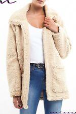 New Womens Lady Winter Teddy Bear Fleece Fur Fluffy Coat Jackets Jumper Outwear