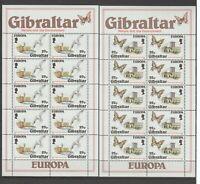 S37404 Gibraltar Europa Cept MNH 1986 MSx2