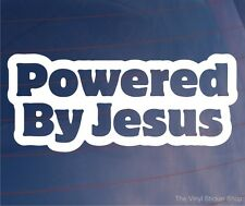POWERED BY JESUS Funny Religious Vinyl Car/Van/Truck/Window/Bumper Sticker/Decal