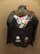 Biker Chick NEW Real Buffalo Leather Patchwork Heavy Motorcycle Jacket Womens 3X