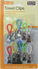 PACK OF 10 METAL TOWEL CLIPS/HOOKS TO HANG TEA TOWELS/ TOWELS/ CLOTHS -KITCHEN