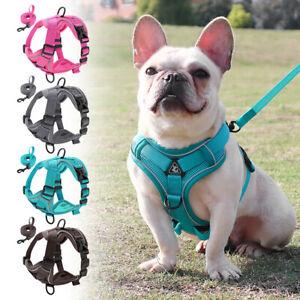Reflective No Pull Cat Dog Harness & Leash Set Front Clip Soft Mesh Padded Vest