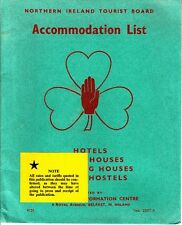 Northern Ireland Tourist Board Accomodation List Hotels Youth Hostels Houses