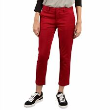 2017 NWT WOMENS VOLCOM FROCHICKIE PANTS $65 5 ruby red mid rise cigarette pant