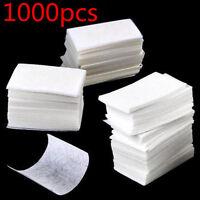 1000Pcs  Tips Nail Art Polish Remover  Lint Free Nail Wipes Cotton Pads Acrylic