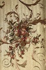 Vinyl Tapete Barock Retro # gold/grün/rot # Fujia Decoration # 22656