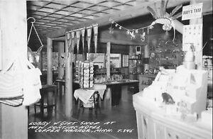 REAL PHOTO Postcard - Copper Harbor, Michigan - New Pontiac Hotel - Lobby & Gift