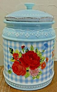 The Pioneer Woman Happiness is Homemade Stoneware Cookie Jar NWT Sweet Rose