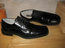 Mens 12 STACY ADAMS Blk Genuine Leather Oxfords Shoes