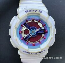 Casio BABY-G BA-112-7A (5338) Analog-Digital White Resin 42mm watch  New Battery