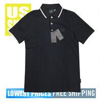 ARMANI EXCHANGE A/X NWT Z8M5Z 100% Cotton Pique BLACK Polo Shirt MEDIUM