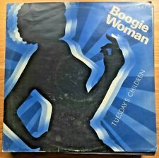 """VINTAGE VINYL Record Collector """"BOOGIE WOMAN"""" by TUESDAY'S CHILDREN Ex12"""" Single"""