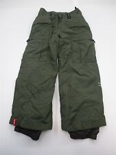 BONFIRE PA1760 Youth Girl's Size L Insulated Breathable Green Snowboarding Pants