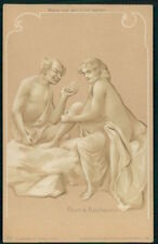 Htl original hold to light male and half nude stockings prostitute 1900 postcard