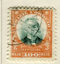 BRAZIL; 1906 early Penna Official issue fine used 100r. value