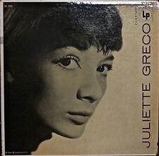 "JULIETTE GRECO (self-titled)-M1960LP GRAY & BLACK ""6-EYE"" LABEL MICHEL LEGRAND"