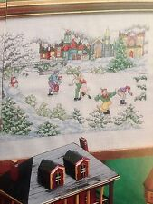 2 Cross Stitch Patterns - Winter Skating by Mike Vickery & Valentine Angel