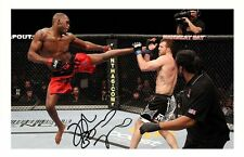 JON JONES AUTOGRAPHED SIGNED A4 PP POSTER PHOTO