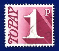 1971 SG D78 1p Deep Reddish Purple Good Used atto