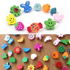 50xMulti-Coloured Cartoon Assorted Push Pins Drawing Cork Board Office Supply JR