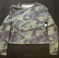 BP. NORDSTROM Women's Shirt Camouflage Long Sleeve Crew Neck  Size L NWT
